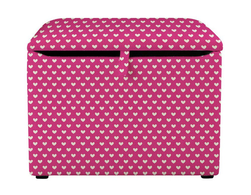 Pink Hearts Toy Box