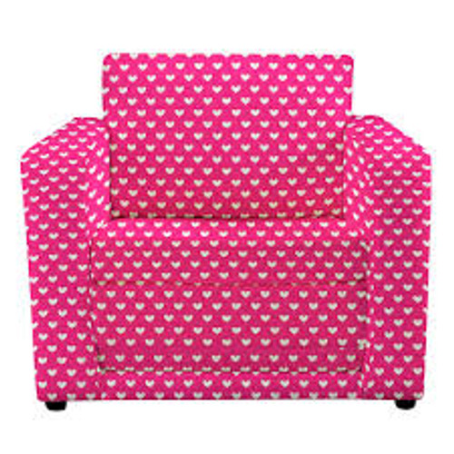 Pink Hearts Chair Bed