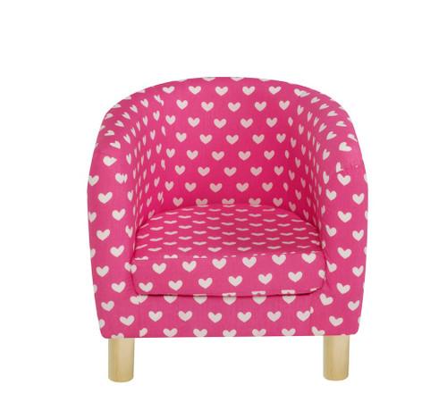Pink Hearts Tub Chair