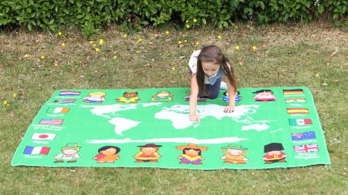 Children of the World Map Outdoor Play Mat