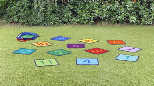 Rainbow 1-24 Numbers Mini Mat Squares & Holdall