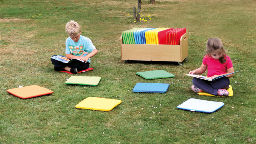 Rainbow Square Cushions & Tuf 2 Trolley