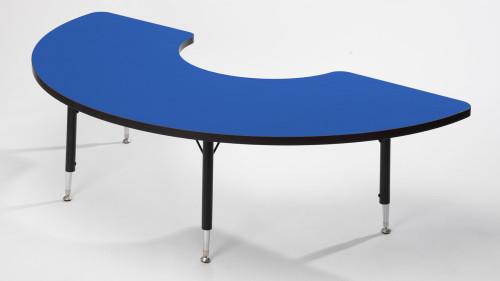 Tuf Top Height Adjustable Arc Table Blue