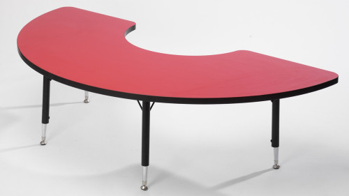Tuf Top Height Adjustable Arc Table Red