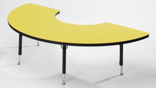 Tuf Top Height Adjustable Arc Table Yellow
