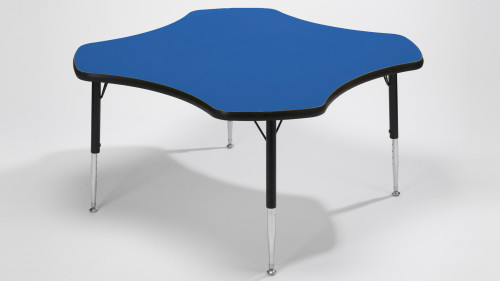 Tuf Top Height Adjustable Clover Table Blue