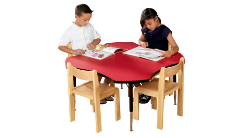 Tuf Top Height Adjustable Clover Table Red