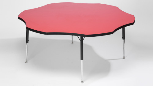Tuf Top Height Adjustable Flower Table Red