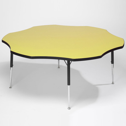 Tuf-Top Height Adjustable Flower Table Yellow