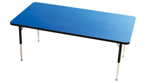 Tuf Top Height Adjustable Rectangular Top Table Blue