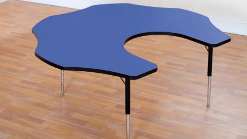 Tuf Top Height Adjustable Teacher Flower Table Blue