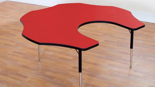 Tuf Top Height Adjustable Teacher Flower Table Red