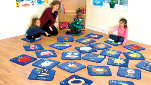 Alphabet Mini Placement Carpets with Holdall