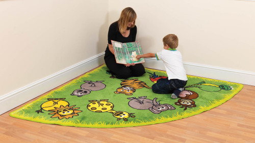 Town & Country Zoo Animals Corner Placement Carpet