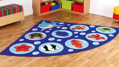 Under the Sea Corner Placement Carpet
