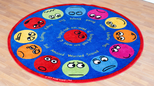 Emotions Interactive Circular Placement Carpet