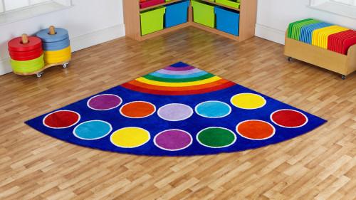 Rainbow Corner Placement Carpet