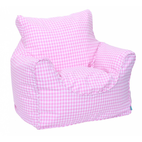 Pink Gingham Childrens Bean Chair Cover
