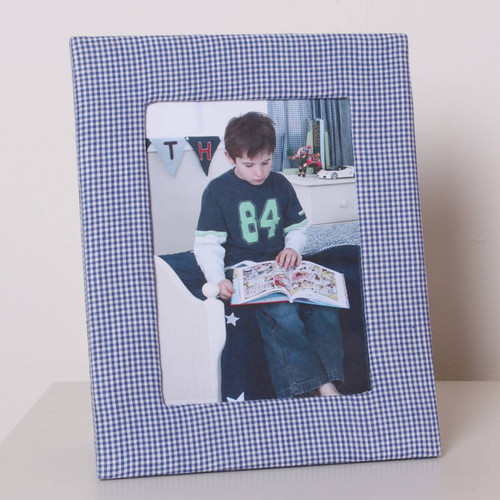 Photo Frame - Blue Gingham