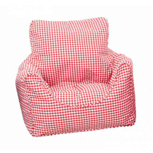 Red Gingham Childrens Bean Chair Cover