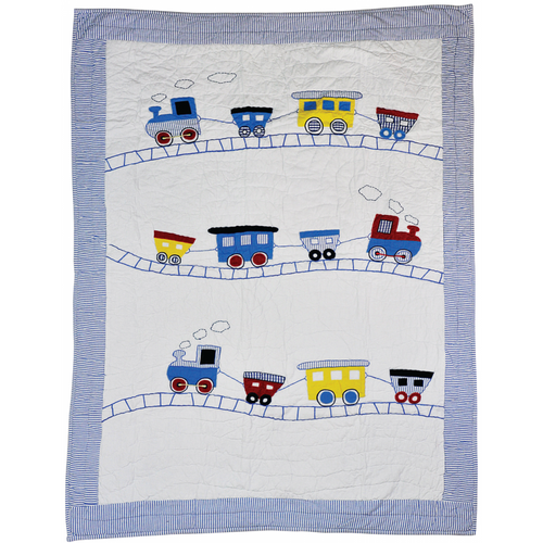 Trains Quilt - Cotbed