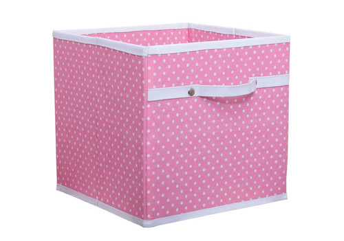 Pink Polka Dot Storage Box