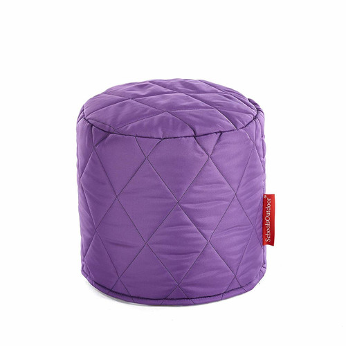 Small Outdoor Quilted Pouffes - Set of 6