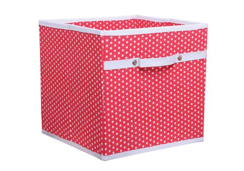 Red Polka Dot Storage Box