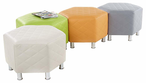 Hexagonal Quilted Seating - Set of 4