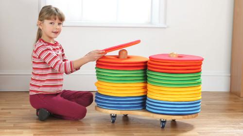 Rainbow™ Circular Cushions & Donut™ Trolley - Set of 32