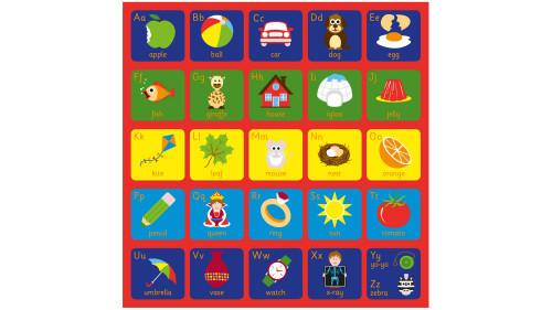 Square Alphabet Carpet