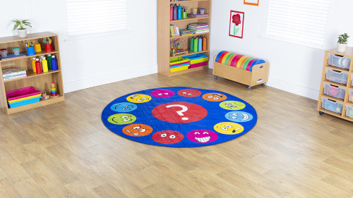 Emotions™ Faces Interactive Circular Carpet