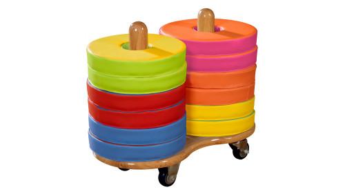Donut™ Multi-Seat Trolley - Inc. 12 Bi-Colour Cushions