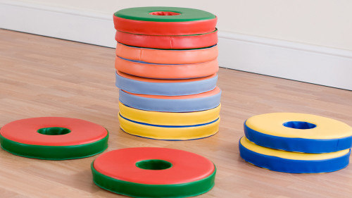 Set of 12 Bi-Colour Donut™ Cushions (excluding trolley)