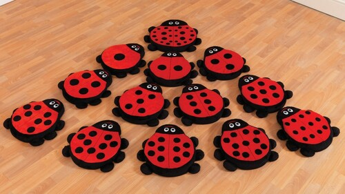 Back to Nature™ Counting Ladybird Story Cushion Family Set - Pack of 13