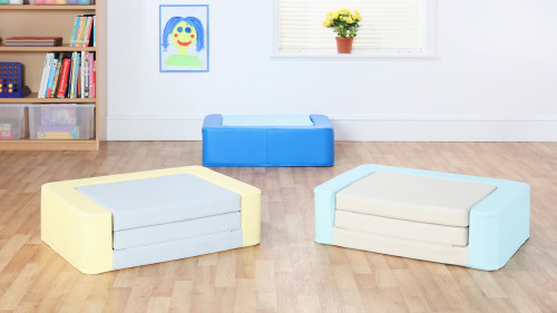Snoozeland™ Sit & Rest - Cornflower Blue/Sky Blue