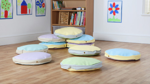 Story Cushions in pastel colours