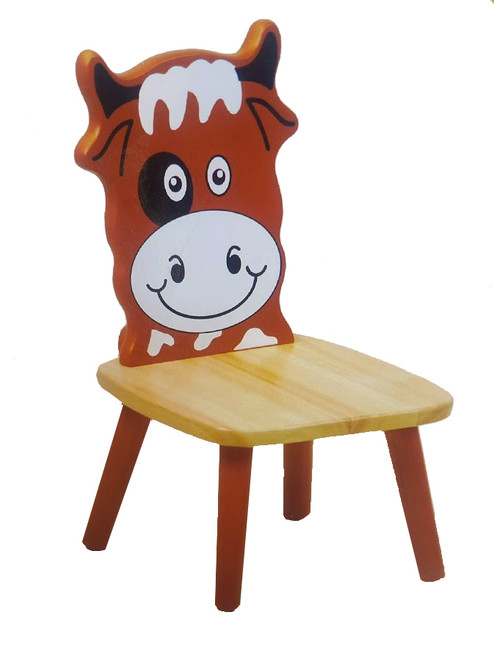 Children's Wooden Cow Chair