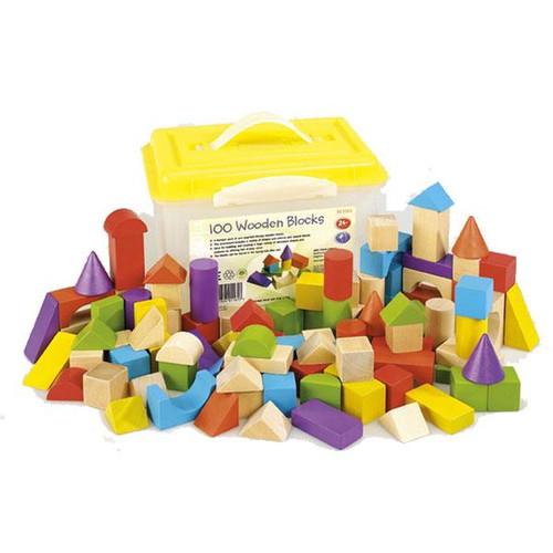 Set of 100 Wooden Blocks