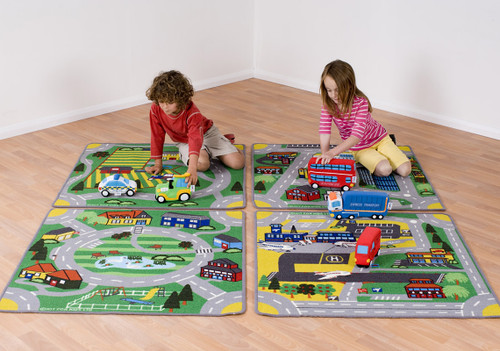 Town and Country Road Carpets Set