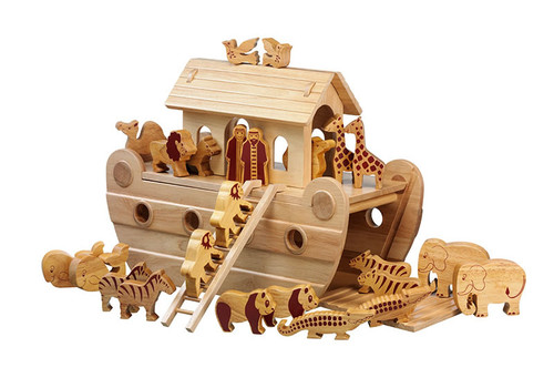 Natural Wood Large Noah's Ark