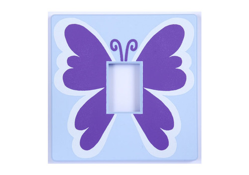 Butterfly Purple Light Switch Cover
