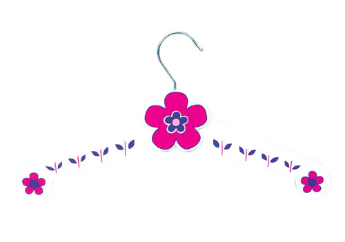 Set of 5 Cerise Pink Flowers Clothes Hangers