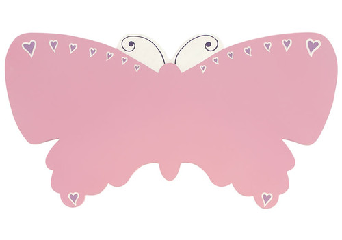 Pink Butterfly Name Plaque