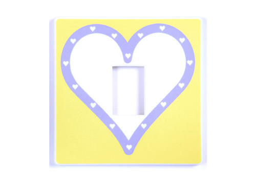 Queen Of Hearts Yellow Light Switch Cover