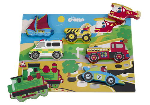Chunky Wooden Transport Puzzle