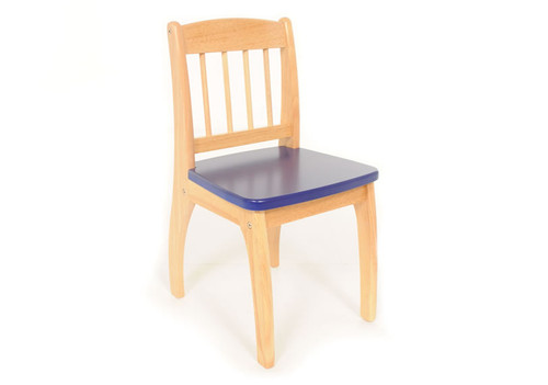 Junior Natural Chair in Navy Blue