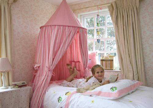 Rose Stripe Hanging Tent