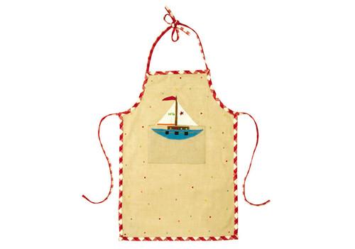 Sailing Boat Cotton Apron