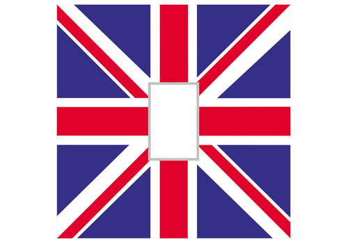Union Jack Light Switch Cover
